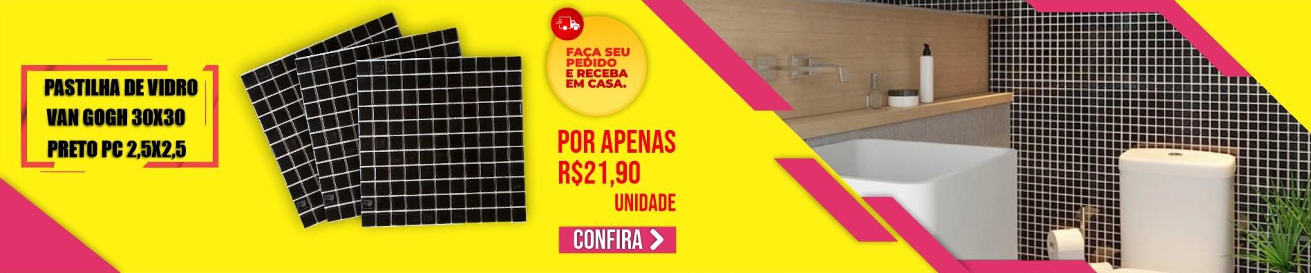 Banner Pastilha Preto