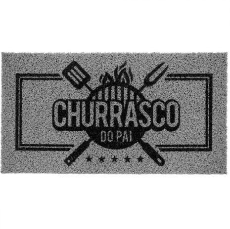 Capacho Vinil Super Print Churrasco do Pai 40cm x 75 Cm