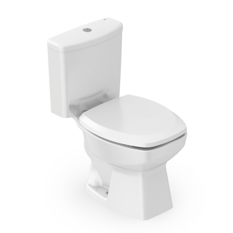 Kit Thema Bacia com Caixa Acoplada, Assento e Instalação - Branco