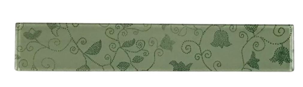 Listelo de Vidro 5 x 30 Floral 270/205