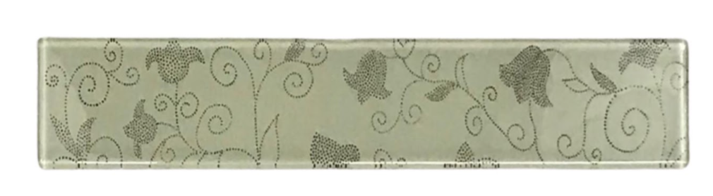 Listelo de Vidro 5 x 30 Floral 370/300