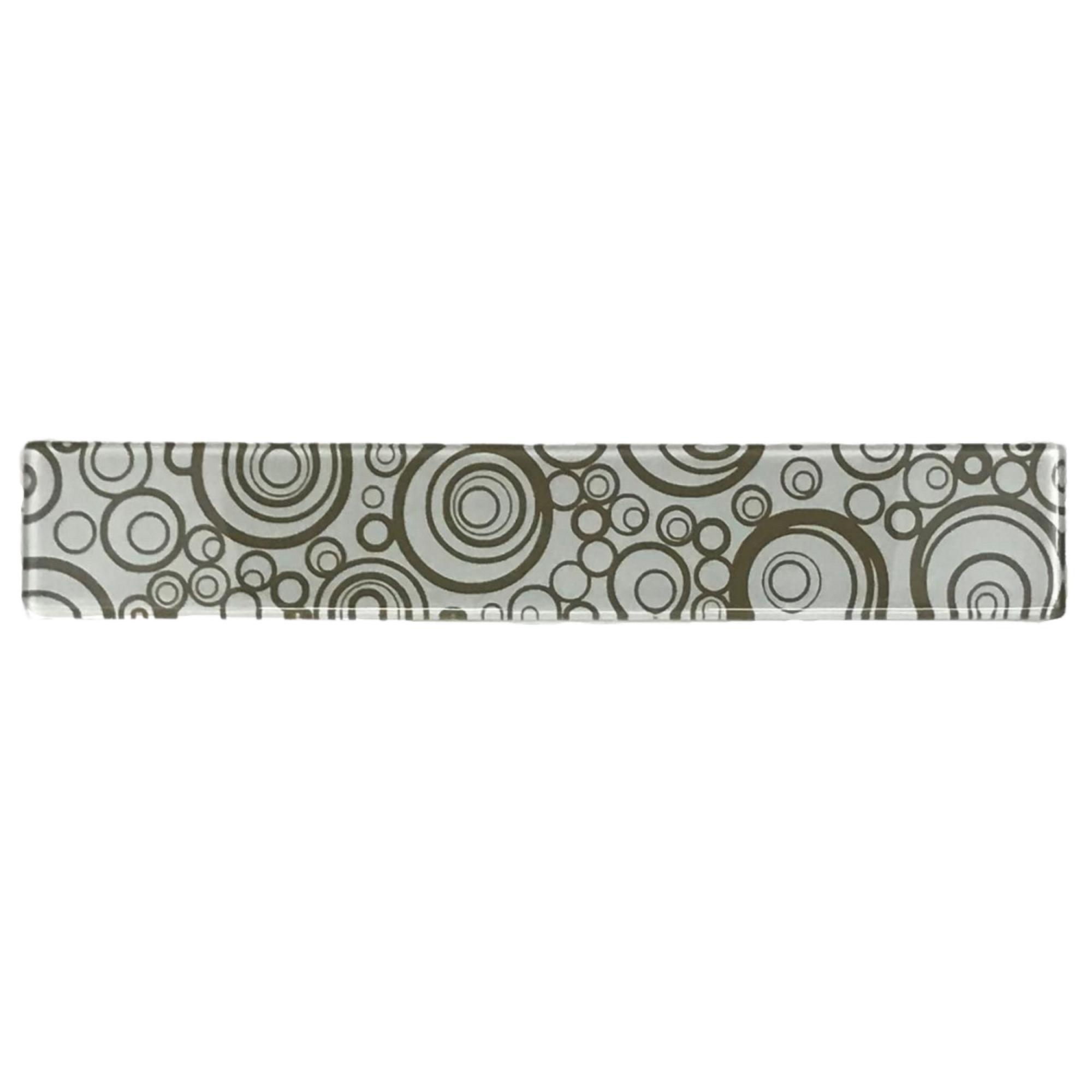 Listelo de Vidro 5x30cm Circular