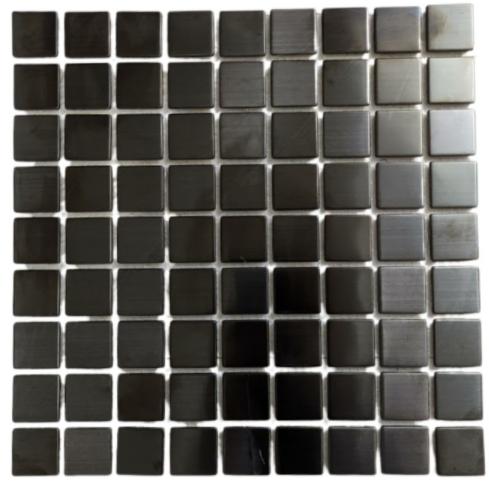 Pastilha de Inox 3 x 3 Ref: PT110 - Escovado Fume