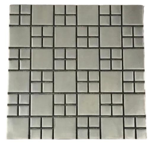 Pastilha de Inox Mosaico Escovado Ref: PR122