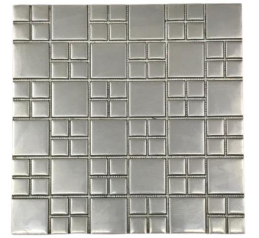 Pastilha de Inox Mosaico Fosco Ref: PR115