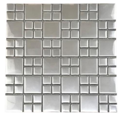 Pastilha de Inox Mosaico Polido Ref: PR123