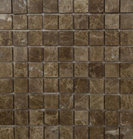 Pastilha de Pedra 3 x 3 Ref: CT115 - Mármore Marrom Imperador