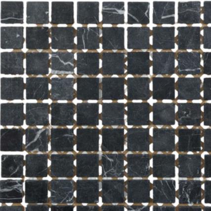 Pastilha de Pedra 3 x 3 Ref: PT110 - Mármore Preto Imperador