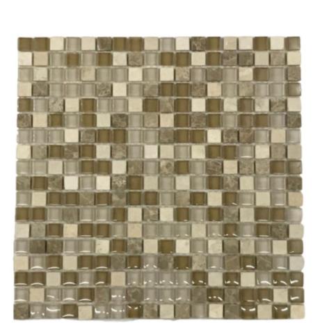 Pastilha de Vidro 1,5 x 1,5 Mix Sand Ref: MCT101a