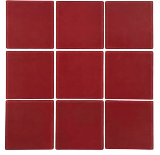 Pastilha de Vidro Big Red 30x30Cm Vm103 b