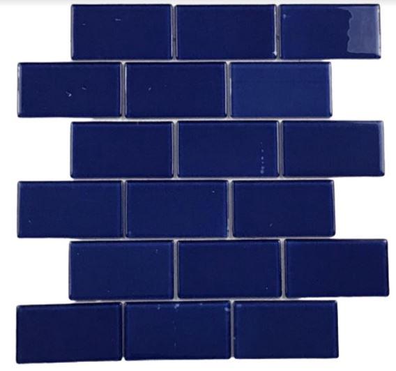 Pastilha de Vidro  Blue Dream 30Cm x 30Cm Az109 b