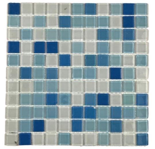 Pastilha de Vidro Céu Azul 30Cm x 30Cm Maz102 b