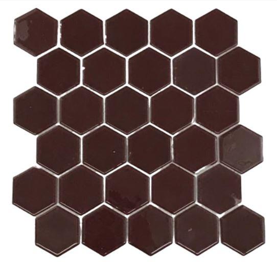 Pastilha de Vidro Dark Red 30Cm x 30Cm Vm101 b