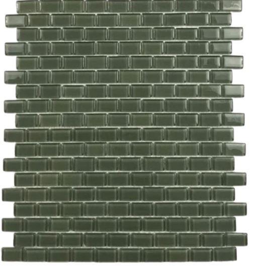 Pastilha de Vidro Green Brick 30Cmx30Cm Vd110