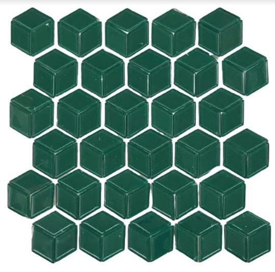 Pastilha de Vidro Green Cube 30Cm x 30Cm Vd121 b