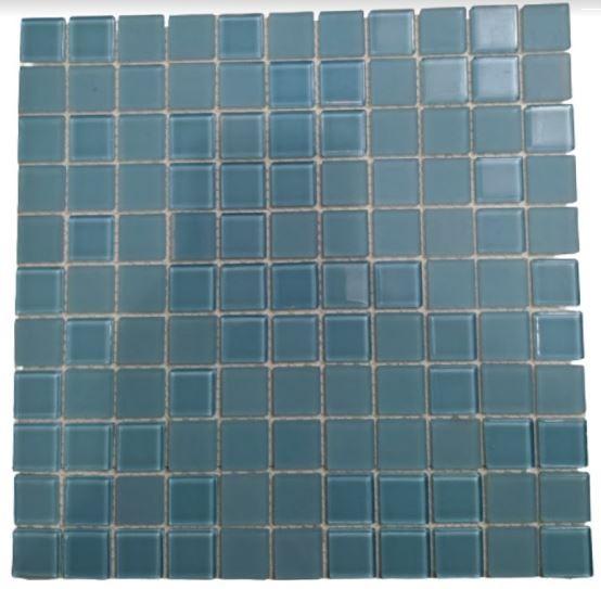 Pastilha de Vidro Matte Blue 30Cm x 30Cm Az135 a