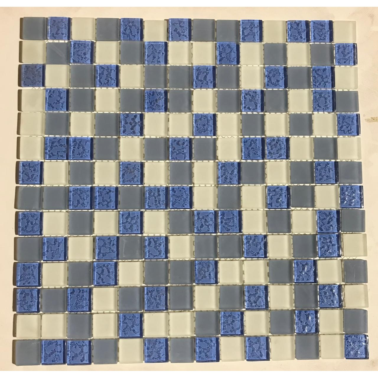 Pastilha de Vidro Mescla Azul ASS111 30x30cm