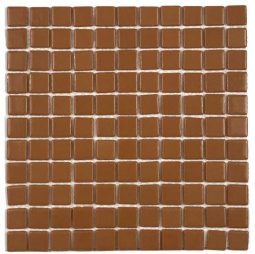 Pastilha de Vidro Orange Brown 30Cm x 30Cm  Lr102 b
