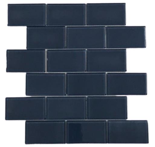 Pastilha de Vidro Orim 5 x 10 Azul Az107b 30x30