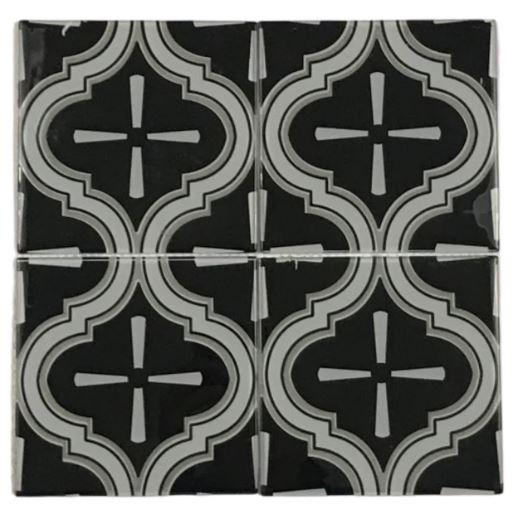 Pastilha de Vidro Retro Black 30Cm x 30Cm Mpt103 b