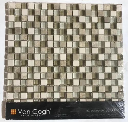 Pastilha de Vidro Van Gogh 30x30 Minor mix sand 1,5 x 1,5 A