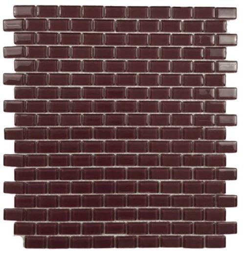Pastilha de Vidro Wine Brick 30Cm x 30Cm Vm106