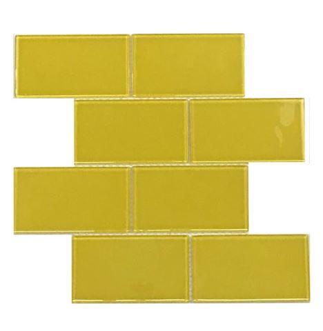 Pastilha de Vidro Yellow Bee 30Cm x 30Cm Am100