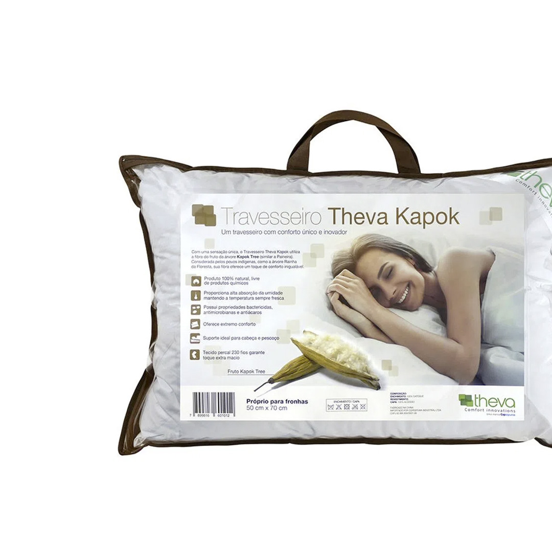 TRAVESSEIRO THEVA KAPOK 50X70