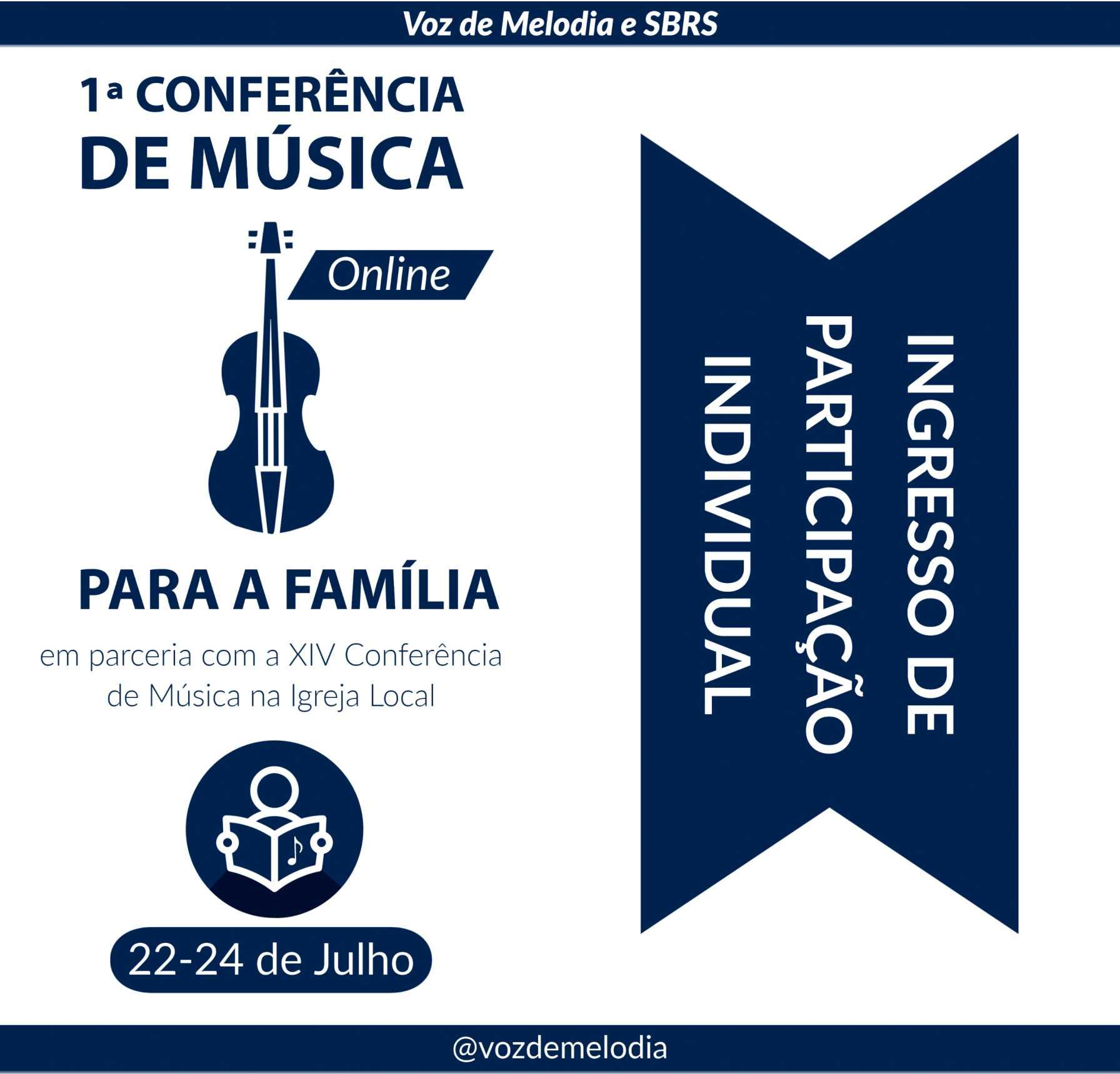 Pacote Família 2 - 2 Adultos e 3 Crianças - 1a Conferência de Música para a Família