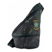 Bolsa Camuflada Academia Bordada Brasão Exército Brasileiro