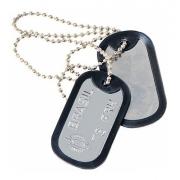 Corrente Placa Identificação Exército Dog Tag