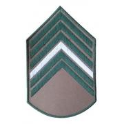 Divisa Bordada Bege De Primeiro Sargento Do Exercito