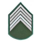 Divisa Bordada Verde Segundo Sargento Do Exercito