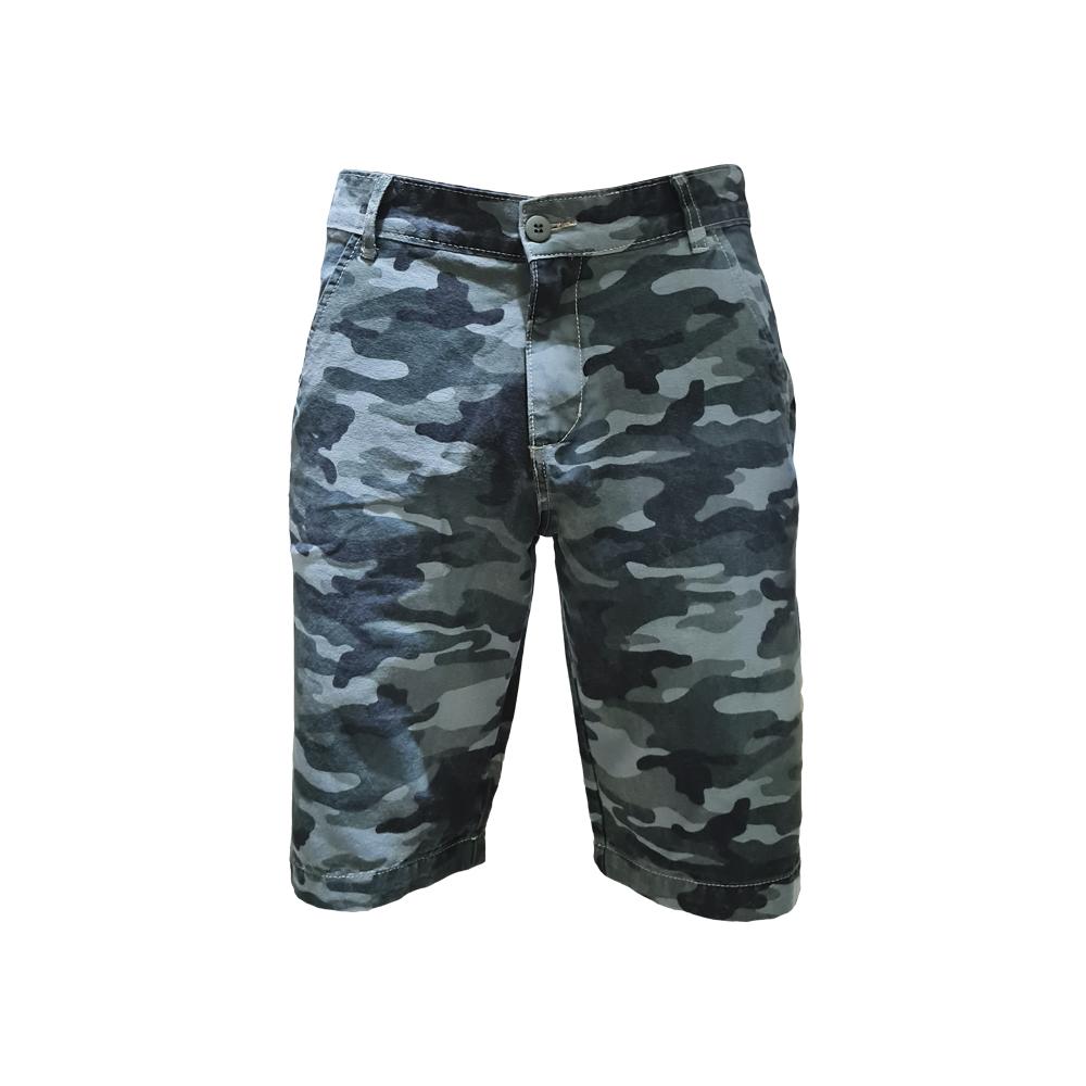 Bermuda Jeans Color Camuflada Básica - Verde Militar