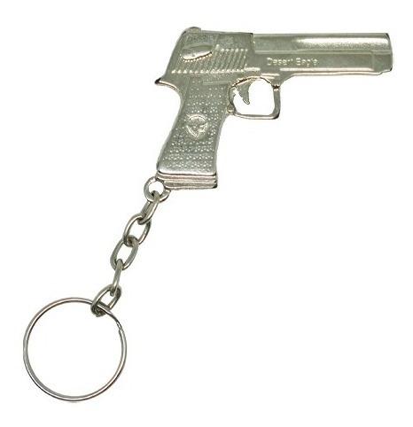 Chaveiro Arma Pistola Desert Eagle De Metal Cromado