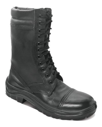 Coturno Militar Couro Liso Bootminas