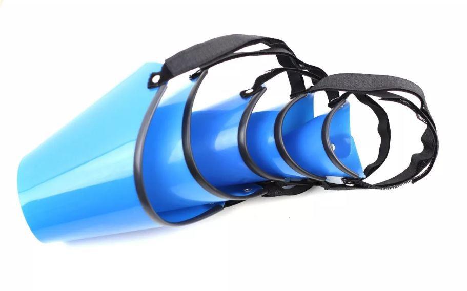 Focinheira Plástica com 5 pçs - Azul