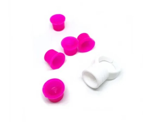 Anel Plástico c/ 5 Batoques para Misturar Henna  - Gelda Cabral