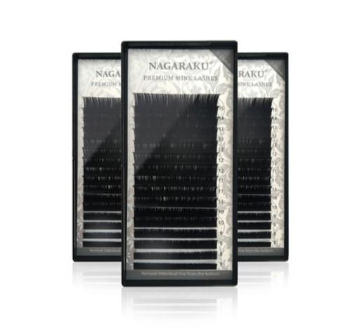 Cilios Nagaraku Premium Mix (07 Ao 15) Volume Russo  - Gelda Cabral