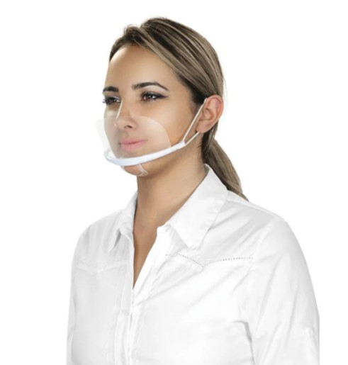 Máscara de Acrílico Proteção  - Gelda Cabral