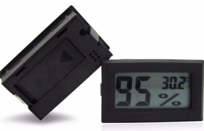 Mini Termômetro Higrômetro Digital  - Gelda Cabral