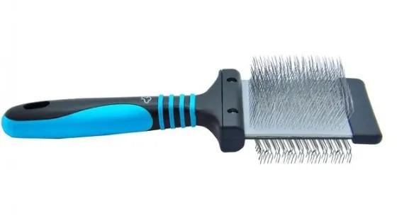 Rasqueadeira Flexível Pinos Médios Macio - Propetz Azul