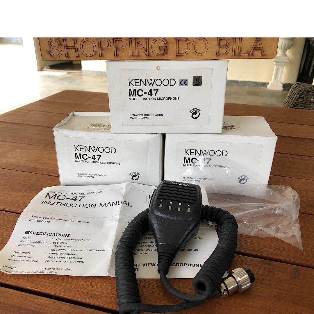 MICROFONE DE MAO KENWOOD MC 47