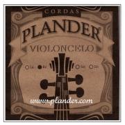 Corda Ré Plander Aço/Cromo para Violoncelo