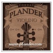 Corda Ré Plander Perlon/Alumínio para Violino 4/4