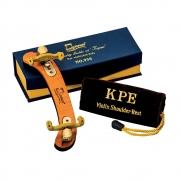 Espaleira Profissional Kapaier 950 Deluxe Violino 4/4 ESTILO Kun Bravo Madeira, Dobrável