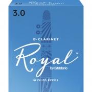 Palheta Rico Royal By D'addario Clarinete 3 - Valor Unitário