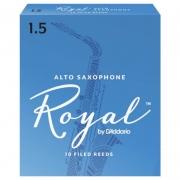 Palheta Rico Royal By D'addario Sax Alto 1,5 - Valor Unitário