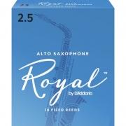 Palheta Rico Royal By D'addario Sax Alto 2,5 - Valor Unitário