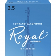 Palheta Rico Royal By D'addario Sax Soprano 2,5 - Valor Unitário